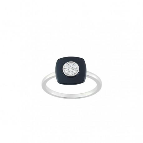 Strieborný prsteň so zirkónom ACR009NZ