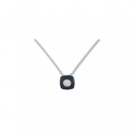 Strieborný náhrdelník so zirkónmi ACCU009NZ