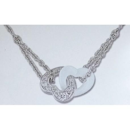 Strieborný náhrdelník so zirkónmi ACCU003BZ