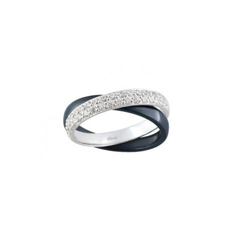 Strieborný prsteň so zirkónmi ACR015NZ