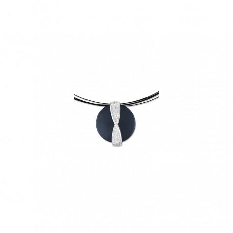 Strieborný náhrdelník so zirkónmi ACCU008NZ