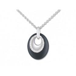 Strieborný náhrdelník so zirkónmi ACC067NZ
